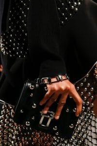 Proenza Schouler Black Studded Mini Flap Bag - Spring 2016