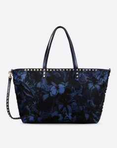 Valentino Blue Camu Butterfly Tote Bag