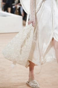 Balenciaga Off White Embroidered Tote Bag 2 - Spring 2016