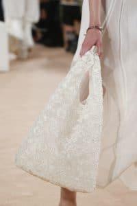 Balenciaga Off White Embroidered Tote Bag - Spring 2016
