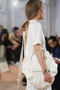 Balenciaga Off White Satin Crossbody Bag - Spring 2016