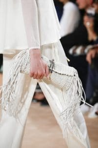 Balenciaga Off White Woven Tasseled Clutch Bag 3 - Spring 2016