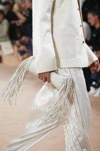 Balenciaga Off White Woven Tasseled Clutch Bag - Spring 2016