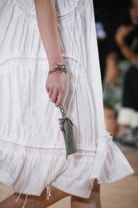 Balenciaga Silver Chain Clutch Bag- Spring 2016