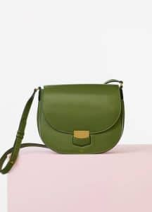 Celine Almond Pamelato Calfskin Medium Trotteur Bag