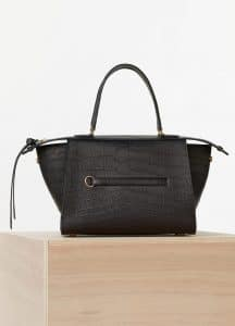 Celine Black Crocodile Small Ring Bag