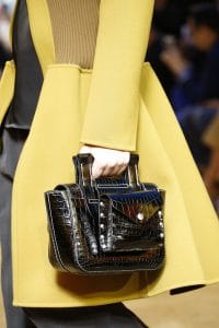 Celine Black Crocodile Top Handle Bag - Spring 2016