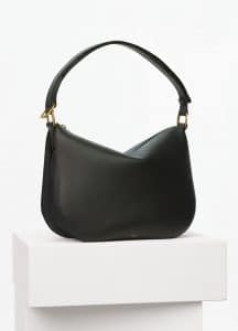 Celine Black Smooth Calfskin Medium Saddle Bag