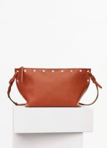Celine Brick Natural Calfskin Small Studded Sailor Bag