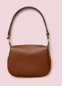 Celine Chestnut Natural Calfskin Small Saddle Bag
