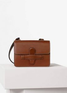 Celine Chestnut Natural Calfskin Symmetrical Bag
