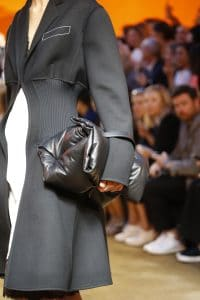 Celine Grey Puffer Oversized Clutch Bag - Spring 2016
