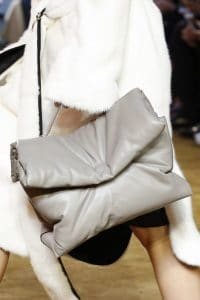 Celine Grey Puffer Top Handle Bag - Spring 2016