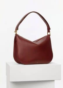 Celine Light Burgundy Smooth Calfskin Medium Saddle Bag