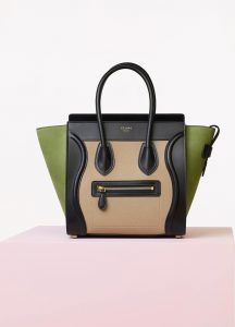 Celine Multicolor Baby Grained Calfskin:Nubuck Micro Luggage Bag
