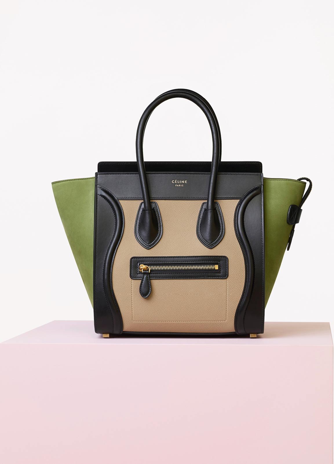 Celine Multicolor Baby Grained Calfskin Nubuck Micro Luggage Bag