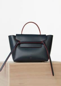 Celine Navy Blue Calfskin Satin Mini Belt Bag