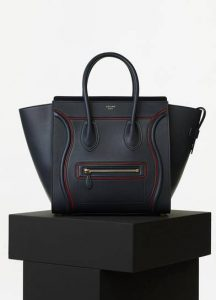 Celine Navy Blue Smooth Calfskin Mini Luggage Bag