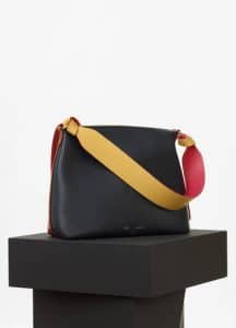Celine Navy/Brick Shiny Smooth Calfskin Zipped Twisted Cabas Bag