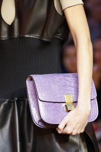 Celine Purple Crocodile Box Clutch Bag - Spring 2016