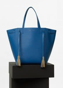 Celine Sea Smooth Calfskin Tasseled Medium Cabas Phantom Bag