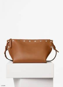 Celine Tan Natural Calfskin Medium Studded Sailor Bag
