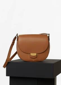 Celine Tan Pamelato Calfskin Medium Trotteur Bag