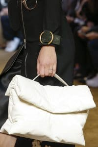 Celine White Puffer Top Handle Bag - Spring 2016