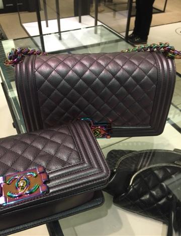 Chanel Black Boy Bags with Rainbow Hardware