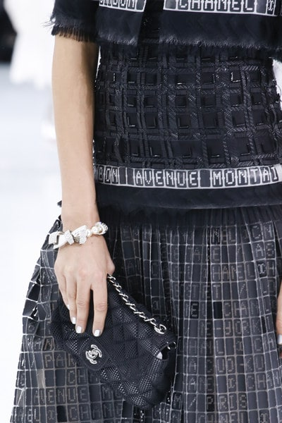 Chanel Black Perforated Classic Flap Bag - Spring 2016