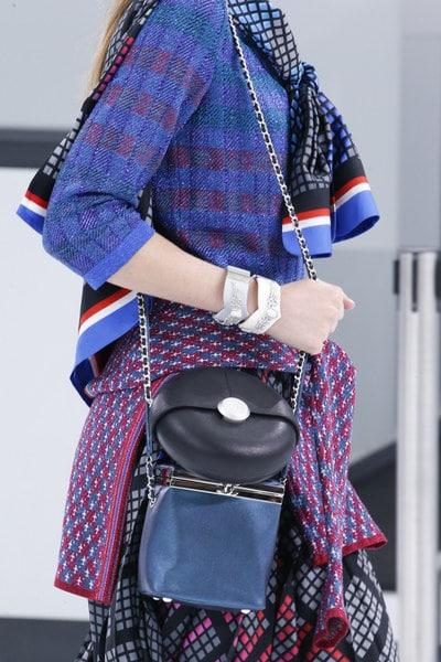 Chanel Black Round Bag and Blue Box Bag - Spring 2016