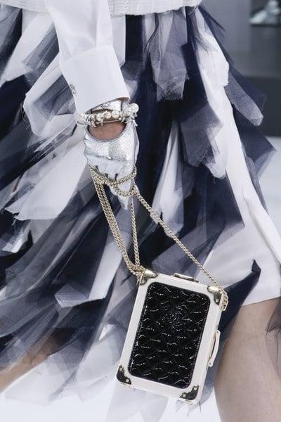 Chanel Black/White Nano Luggage Bag - Spring 2016