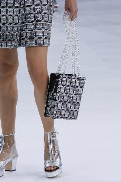 Chanel Black/White Tweed Shoulder Bag - Spring 2016