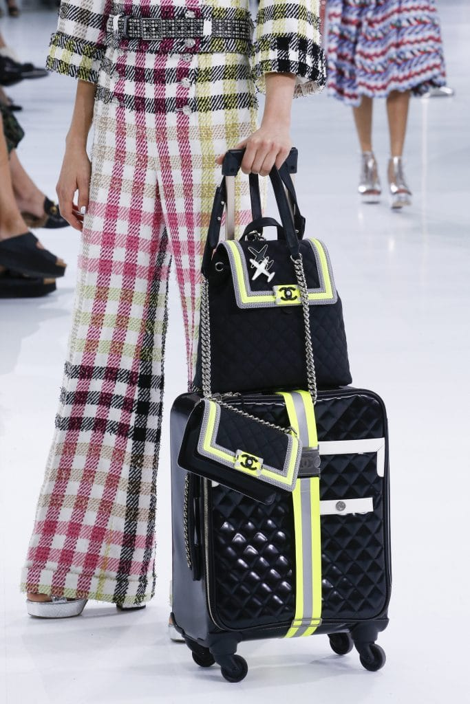 Chanel Black/Yellow/Gray Quilted Boy Flap:Backpack and Luggage Bags - Spring 2016