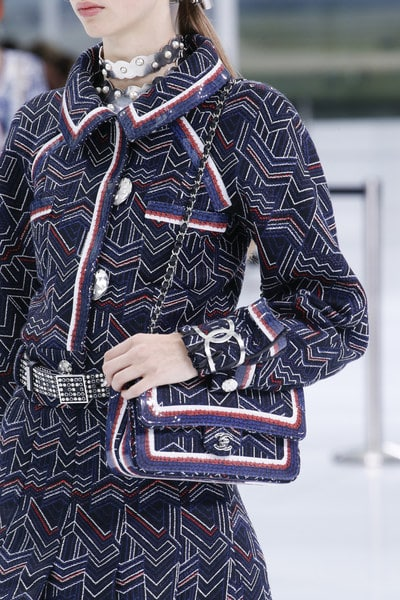 Chanel Blue Embroidered Classic Flap Bag - Spring 2016