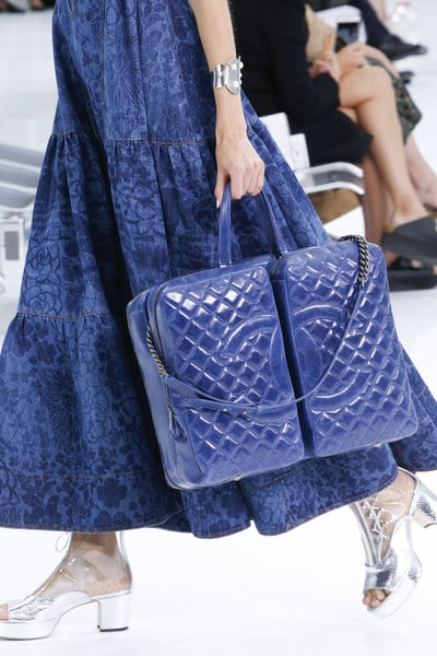 Chanel Blue Quilted Large Tote Bag - Spring 2016