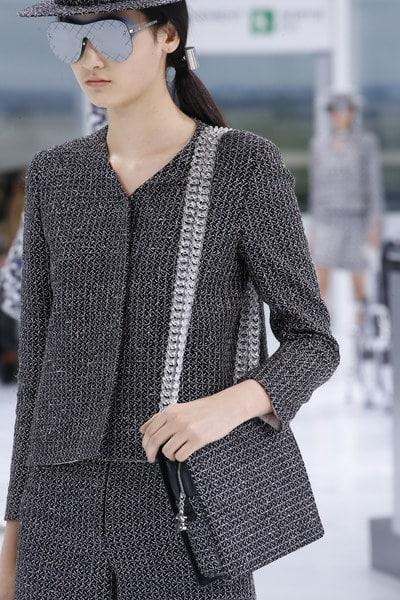 Chanel Blue Tweed Shoulder Bag - Spring 2016