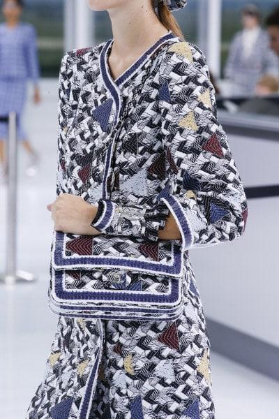 Chanel Blue/Burgundy/White Embroidered Flap Bag - Spring 2016