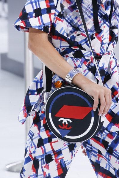 Chanel Blue/Red Round Shoulder Bag - Spring 2016