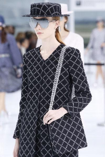 Chanel Blue/White Crisscross Pattern Shoulder Bag - Spring 2016
