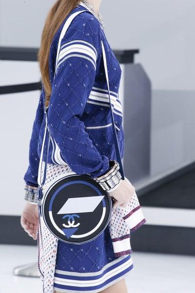 Chanel Blue/White Round Shoulder Bag - Spring 2016
