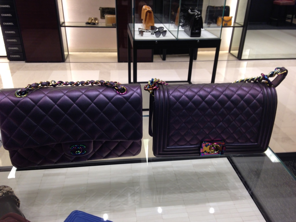 Chanel Boy And Classic Flap Bags With Iridescent Hardware