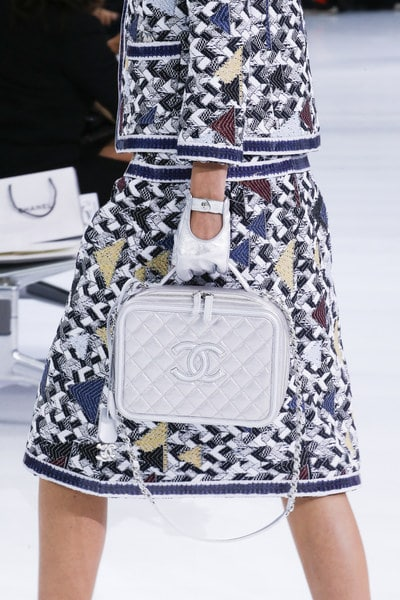 Chanel Grey Quilted Top Handle Bag - Spring 2016