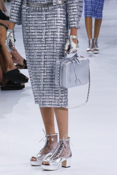 Chanel Silver Crocodile Top Handle Bag - Spring 2016