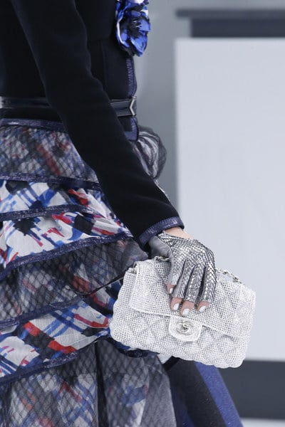 Chanel Silver Perforated Quilted Flap Bag - Spring 2016