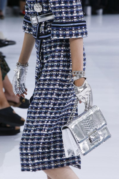 Chanel Silver Python Flap Bag - Spring 2016