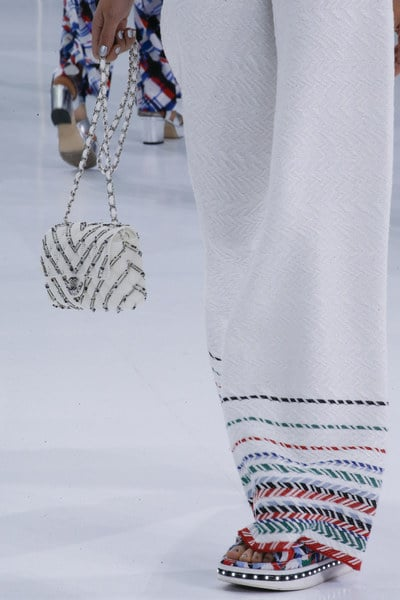 Chanel White Embellished Classic Flap Bag 2 - Spring 2016