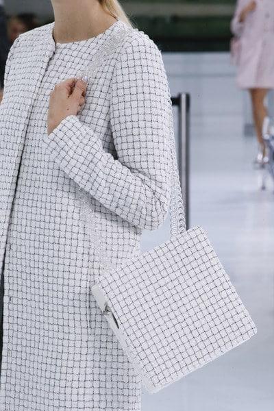 Chanel White/Black Checkered Shoulder Bag - Spring 2016