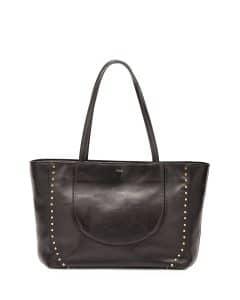 Chloe Black Calfskin Isa Shopper Tote Bag