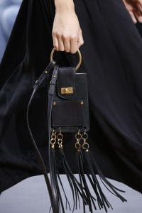 Chloe Black Leather/Suede Tasseled Nano Flap Bag - Spring 2016